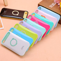 Silicone Case Ring Stand Cover With LED Light For iPhone 4 4...