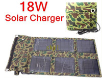 Wholesale 18W Solar Panel Battery Charger Foldable Charger Bag Wallet USB5V DC16 V Output Battery Backup HOT new arrival