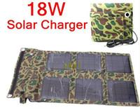 Wholesale 18W Solar Panel Battery Charger Foldable Charger Bag Wallet USB5V DC16 V Output Battery Backup HOT new arrival