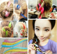 Fashion Fluorescence Colorful Fibler Clip on in hair long pi...