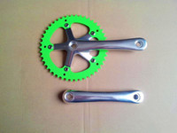 Wholesale fixed gear bicycle folding track performing bike crankset crank T bicycle crank and sprocket wheel fittings