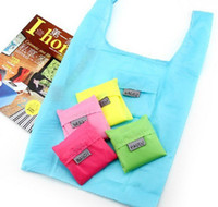 Wholesale Fashion Eco Reusable Shopping Bag Foldable Waterproof Nylon Grocery