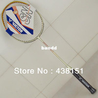 Wholesale Super Victor Nano7 Badminton Rackets Carbon Racket String Grip Bag