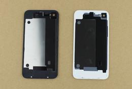 Iphone vidrio de alta calidad en Línea-Caliente a estrenar de alta calidad de cristal trasera de la cubierta de batería trasera de la cubierta para 4 4G 4S Negro Color Blanco