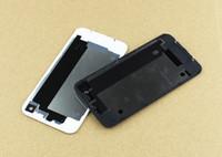 Бесплатная доставка Заднее стекло батареи для дома двери задняя крышка Замена части с рассеиватель для iPhone 4 4S 4g белый черный цвет
