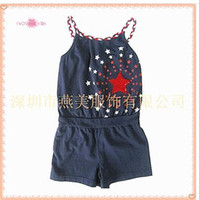 Wholesale Cotton hand strap connects body embroider bead piece small tong tong ha garments