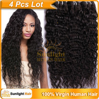 "Malaysian Hair Malaysian Curly Hair natural color 1B# 4Pcs lot Unprocessed Malaysian Virgin Hair Natural Wavy Wave Kinky Curly Hair 10""-26"" Black 1B#Human Hair Weave Extensions Natural"