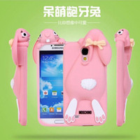 buck- toothed rabbit silicone shell dimensional soft shell Cu...