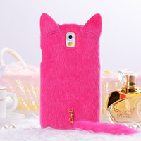 cat plush cat tail protective sleeve Cute Cartoon Silicone C...