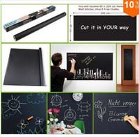 Wholesale Cheap Sale Novelty Item Cut At Random Chalk Board Blackboard Sticker Removable Vinyl Wall Decal with Free Chalks