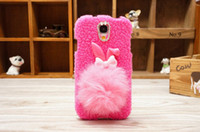 Korea rabbit hair ball diamond Cute Cartoon Silicone Case Co...