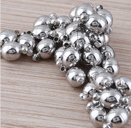 Free Shipping high quality 8mm Imitation Rhodium Plated Magnetic Clasp Jewelry accessories