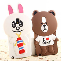 The new second- generation Brown Bear Cute Cartoon Silicone C...
