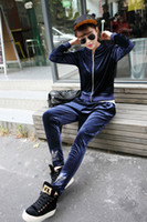 Wholesale Brand Velour Tracksuits Women Sport Suits Top Quality Sweatsuits New Arrival Casual Clothing Set