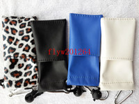 Wholesale Newest Portable Lanyard Carrying Case Cover eGo PU Leather Pouch For Electronic Cigarette E cigarette