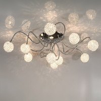 Wholesale Max quot Heads Aluminum Glass Living Room Ceiling Light Study Room Adjustable Aluminum Soft Tube ARMs Ceiling Light Spider Bedroom Ceiling