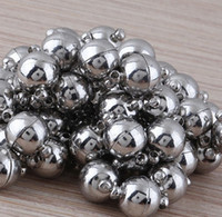 Wholesale mm Round Shape Strong Magnetic Clasp Jewelry Findings Bead Fit Necklace