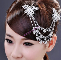 Fascinators bridal hair ornament - Top Quality Beading Wedding Bridal Tiaras Jewelry Crystal Hair Ornaments Hair Accessories DL1311267