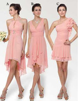 Under 100 Dollar Short Pink Bridesmaid Dress Dresses Gown Pl...