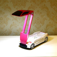 Cheap Modern Creative cool roadster LED Desk Lamp Study Room Rechargeable Eye protection Table Light Bedroom folded toy car Portable Table Lamp