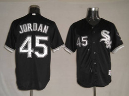 Wholesale white sox Michael Jordan in Black baseball Jersey high quality stitched baseball shirts cheap sports jerseys for sale best athletic wear
