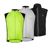 Breathable Men Polyester WOLFBIKE Tour de France Cycling Sportswear Men Jerseys Cycle Clothing Windcoat Breathable Bike Jacket Sleeveless Vest 3 COLORS