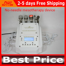 Wholesale 2014 Galvanic Photon Facial Machine With Red Photon Light For Skin Rejuvenation RF Cooling No Needle Mesotherapy Device Needle Free Mahcine