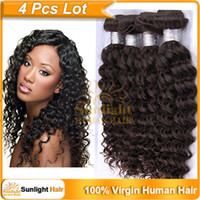 "Cheap 4A Top Quality Unprocessed Malaysian Virgin Hair Natural Wavy Wave Kinky Curly Hair 12""-32"" Natural Black 1B# Remy Human Hair Extensions"
