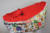 Wholesale Hot Promotion Baby seat baby bean bag hot sell red top new design beanbag chair without filling