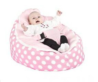 Wholesale Hot Promotion Baby seat baby bean bag hot sell pink pock dots beanbag chair without filling