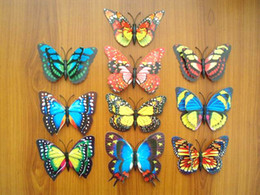 Wholesale 50Pcs at least Patterns cm Mixed Size Fake Artificial d Pin Clip Butterfly Home Curtain Sofa Wedding Cake Table Decoration Gift
