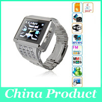 No Brand supporting - X8 Watch Phone Dual SIM Dual Standby Support Camera JAVA Bluetooth WIFI Mobile phone watch SMS GPRS WAP Watch built in wifi bluetooth