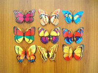 Wholesale 30Pcs at least Patterns CM Mixed Size Fake Artificial Pin Clip d Butterfly Home Curtain Sofa Sheet Cloth Hat Decoration Gift