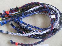 nylon rope - Titanium Team college silicone sports baseball rope Twist Tornado teams nylon Teams healthy necklaces body jewelry