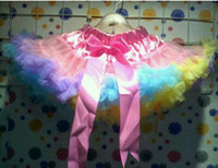 Wholesale Clearance sale European popular design multi color flower girls tutu skirts and petticoat at retail sale