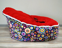 Wholesale Hot Promotion Baby seat baby bean bag red top dots beanbag chair without filling