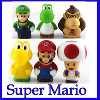 8-11 Years mario figures - Free shpping EMS style Figures SuperMario PVC little figurine Kids toys toddler toys
