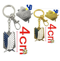 Women   Anime Cartoon Attack on Titan Surveys Corps Metal Key chains Figures Pendants