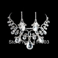 best holiday sales - 2014 Holiday Sale High quality Love amp Heartdrop Crytal Bridal Jewelry Sets Best Wedding Jewelry Sets T150