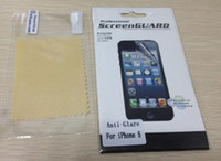 Wholesale Protector For iphone iphone5 Clear and Anti Glare Matte Lcd screen protector Case film guard
