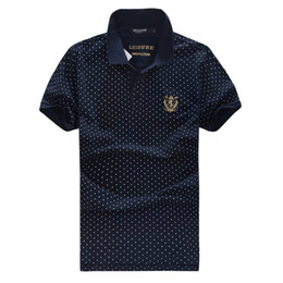 Wholesale 2014 New Arrival Polo Shirt Mens Top Quality Summer Brand Gents Clothes With Dot Design Size M XXXL