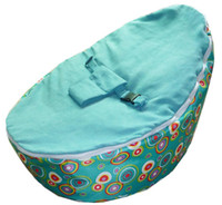Wholesale Hot Promotion Baby seat baby bean bag blue scire beanbag chair without filling