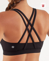Wholesale Lululemon Energy Bra light Support Sports Bras Lululemon Women s Yoga Bra Breathable Sexy Cotton Camis Rackback Black Color Brand New
