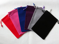 Wholesale Factory direct sales Velvet Drawstring wedding pouch bag jewelry gift power bank bags Size CM China Post Air Mail