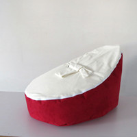Wholesale Hot Promotion Baby seat baby bean bag red white beanbag chair without filling
