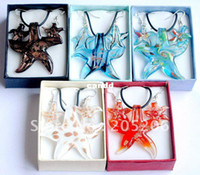Wholesale Summer Hot Selling Lampwork Glass Jewelry Set Murano Glass Necklace Earrings Jewelry set sets W14560Y66