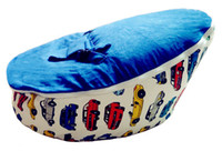 Wholesale Hot Promotion Baby seat baby bean bag car blue beanbag chair without filling