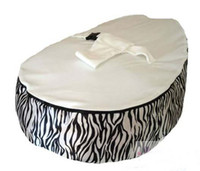 Wholesale Hot Promotion Baby seat baby bean bag zeba white beanbag chair without filling
