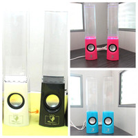 Wholesale Dancing Water Speaker Music Audio MM Player USB Power Supply LED Light Colorful Water drop Show for Laptop PSP phone