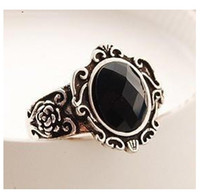 Wholesale R177 Min order Wholesales New Design Hot Fashion Rose Mirror Gem Ring Jewelry Accessories